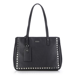 Shopper bag, black, 87-4Y-561-1, Photo 1