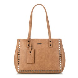 Shopper bag, dark brown, 87-4Y-561-4, Photo 1
