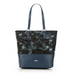 Shopper bag, navy blue-black, 87-4Y-564-N, Photo 1