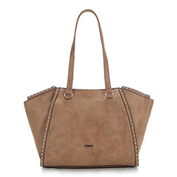 Shopper bag, light brown, 87-4Y-567-5, Photo 1