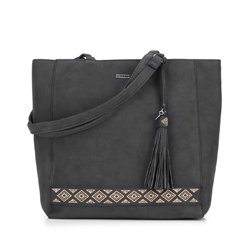 Shopper bag, black, 87-4Y-700-1, Photo 1