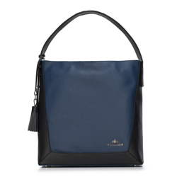 Hobo bag, navy blue-black, 88-4E-212-1, Photo 1
