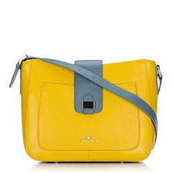 Torebka damska, żółto - niebieski, 88-4E-364-Y, Zdjęcie 1