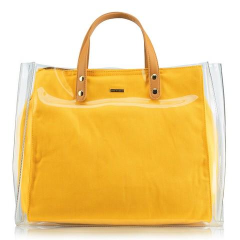 Torebka damska, żółty, 88-4Y-556-Y, Zdjęcie 1
