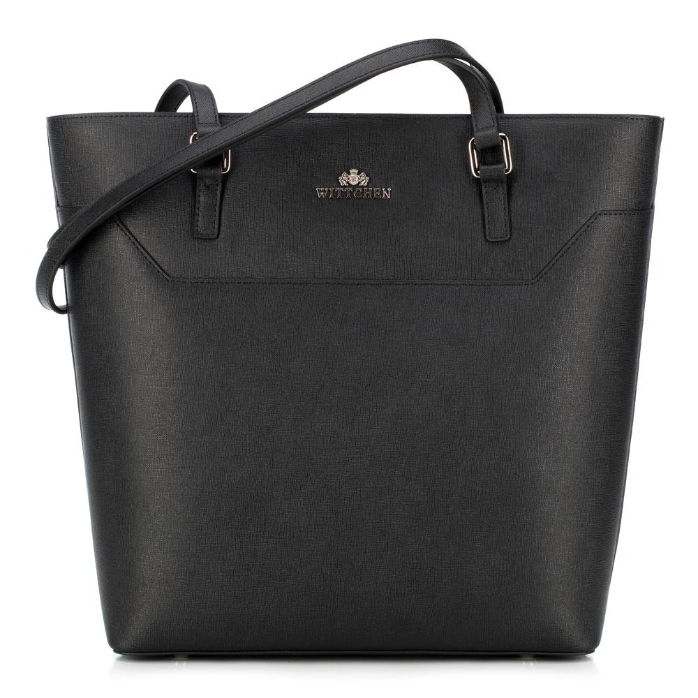 Čierna dámska kabelka.