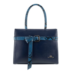 Tote bag, navy blue, 89-4E-363-7, Photo 1