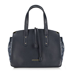 Tote bag, navy blue, 89-4Y-403-7, Photo 1