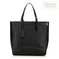 Torebka shopperka ze skóry klasyczna, czarny, 90-4E-001-1, Zdjęcie 1