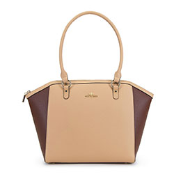 Shopper bag, beige-brown, 90-4E-605-9, Photo 1