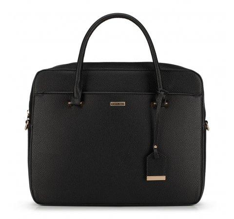 Damska torba na laptopa z zawieszką, czarny, 90-4Y-616-X2, Zdjęcie 1