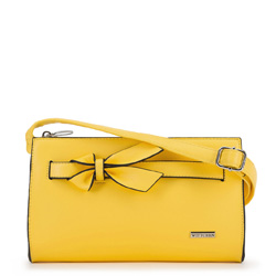 Damska listonoszka z kokardą, żółty, 90-4Y-763-Y, Zdjęcie 1
