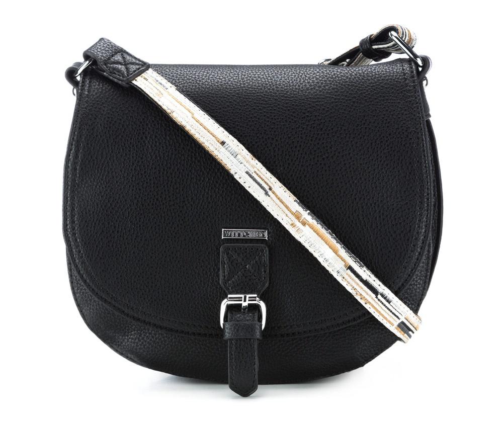 Сумка женская из экокожиСумка из коллекции Young. Открытое основное отделение. Внутри карман на молнии и открытый карман для мелких предметов. Возможность регулирования длины ремня.<br><br>секс: женщина<br>Цвет: черный<br>материал:: Экокожа<br>высота (см):: 18<br>ширина (см):: 24<br>глубина (см):: 8<br>вес (кг):: 0.3
