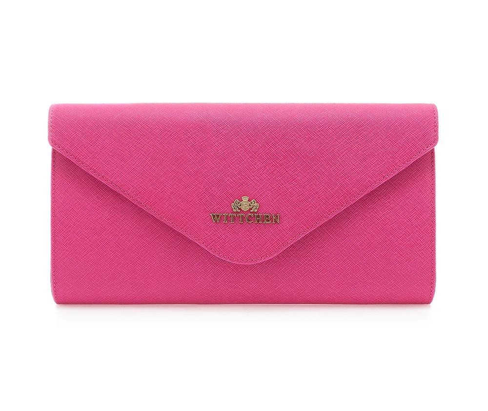 Сумка ELEGANCE Wittchen 84-4E-405-P, розовыйОсновное отделение надежно закрывается на магнит. Внутри карман с застежкой-молнией и открытый карман для мелких предметов.  Дополнительно имеется съемный регулируемый ремень.<br><br>секс: женщина<br>Цвет: розовый<br>материал:: Натуральная кожа<br>описание материала :: матовый<br>тип:: через плечо<br>высота (см):: 13<br>ширина (см):: 26<br>глубина (см):: 6<br>вмещает формат А4: нет<br>вес (кг):: 0,2