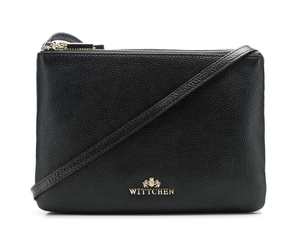 Женская сумкаЖенская сумка из коллекции Elegance. &#13;<br>3 отделения застегиваются на молнию. Внутри одной из них карман на молнии. Возможность ругулирования длины ремня.<br><br>секс: женщина<br>Цвет: черный<br>материал:: Натуральная кожа<br>длина плечевого ремня (cм):: 107 - 118<br>высота (см):: 17<br>ширина (см):: 24<br>глубина (см):: 4