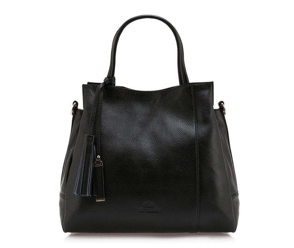 Сумка ELEGANCEОсновное отделение надежно закрывается на молнию. Внутри сумка разделена карманом  на молнии. Кроме внутреннего кармана на молнии, есть открытый карман для мелких предметов и место для мобильного телефона. Низ сумки защищен металлическими ножками.  Есть возможность  отрегулировать длину ремня.<br><br>секс: женщина<br>Цвет: черный<br>материал:: Натуральная кожа<br>описание материала :: матовый<br>тип:: через плечо<br>высота (см):: 31<br>ширина (см):: 38<br>глубина (см):: 12<br>иное :: нет<br>общая высота (см):: 44<br>вес (кг):: 0,4