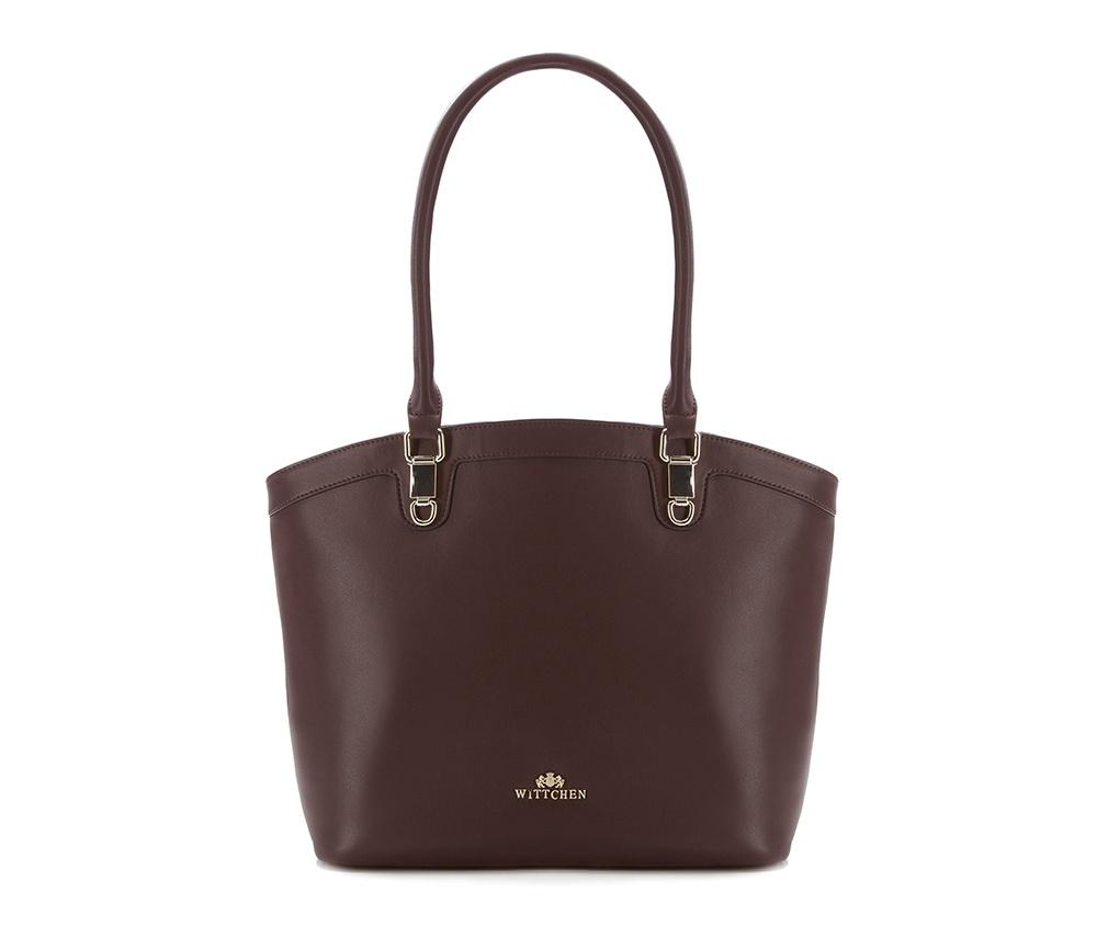 Женская сумкаЖенская сумка из коллекции Elegance. &#13;<br>Основной отдел застегивается на молнию, разделен карманом на молнии.  Внутри  отделение на молнии, открытый карман для мелких предметов и отделение для мобильного телефона.С тыльной стороны карман на молнии.<br><br>секс: женщина<br>Цвет: коричневый<br>вмещает формат А4: поместит формат А4<br>материал:: Натуральная кожа<br>высота (см):: 29<br>ширина (см):: 30 - 43<br>глубина (см):: 13.5<br>общая высота (см):: 53<br>длина ручки/ек (см):: 59