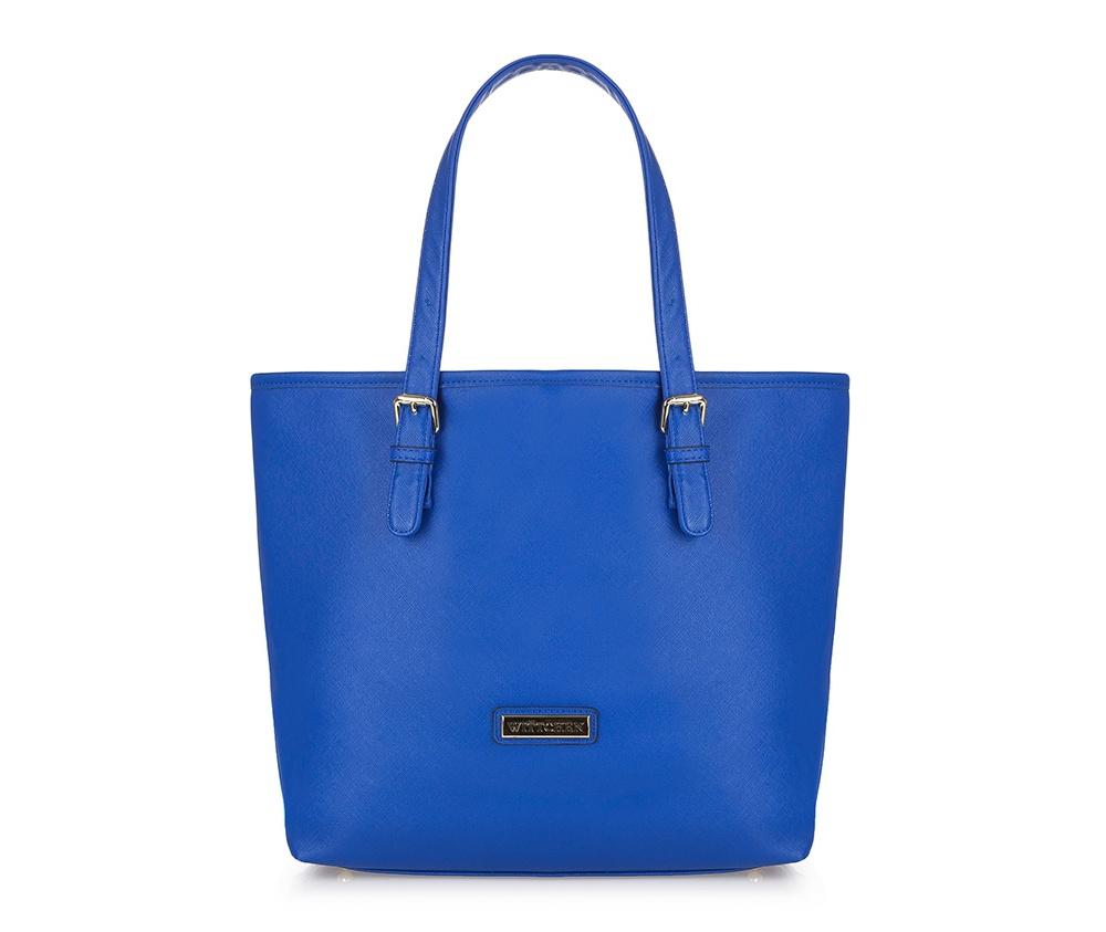 Женская сумка из экокожиОсновное отделение закрывается на магнитную застежку. Внутри карман с застежкой-молнией, открытый карман для мелких предметов и место на мобильный телефон. Низ сумки защищен металлическими ножками. Кроме того, дополнительно получаете съемную косметичку в комплекте.<br><br>секс: женщина<br>Цвет: голубой<br>материал:: Экокожа<br>описание материала :: матовый<br>тип:: через плечо<br>высота (см):: 32<br>ширина (см):: 33 - 45<br>глубина (см):: 14<br>вмещает формат А4: да<br>общая высота (см):: 50<br>вес (кг):: 0.8