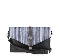 Женская сумка из экокожи Wittchen 84-4Y-106-1, черно-синий 84-4Y-106-1