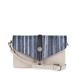 Женская сумка из экокожи Wittchen 84-4Y-106-8, бежево-синий 84-4Y-106-8