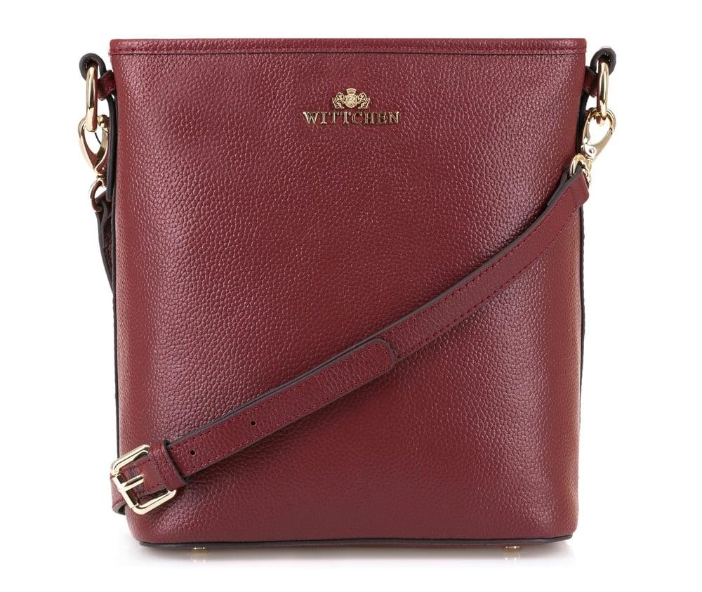 Женская сумка Wittchen 83-4E-472-2, бордовый<br><br>секс: женщина<br>Цвет: красный<br>материал:: Натуральная кожа<br>длина плечевого ремня (cм):: 113 - 127<br>высота (см):: 23<br>ширина (см):: 22<br>глубина (см):: 14