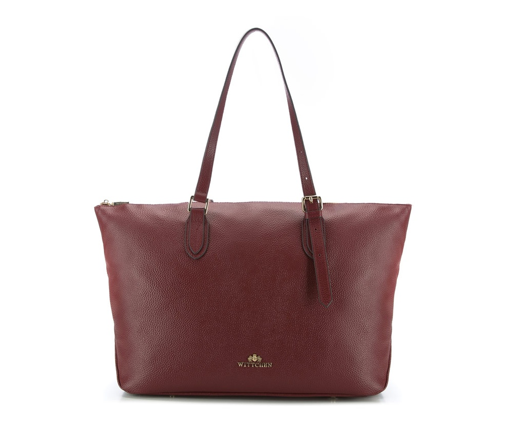 Женская сумкаЖенская сумка из коллекции Elegance.&#13;<br>Основной отдел застегивается на молнию. Внутри 2 кармана на молнии, открытый карман для мелких предметов и отделение для мобильного телефона. С тыльной стороны карман на молнии. Дно сумки защищено металлическими ножками.<br><br>секс: женщина<br>Цвет: красный<br>вмещает формат А4: поместит формат А4<br>материал:: Натуральная кожа<br>высота (см):: 30<br>ширина (см):: 32 - 49<br>глубина (см):: 13<br>общая высота (см):: 52<br>длина ручки/ек (см):: 59