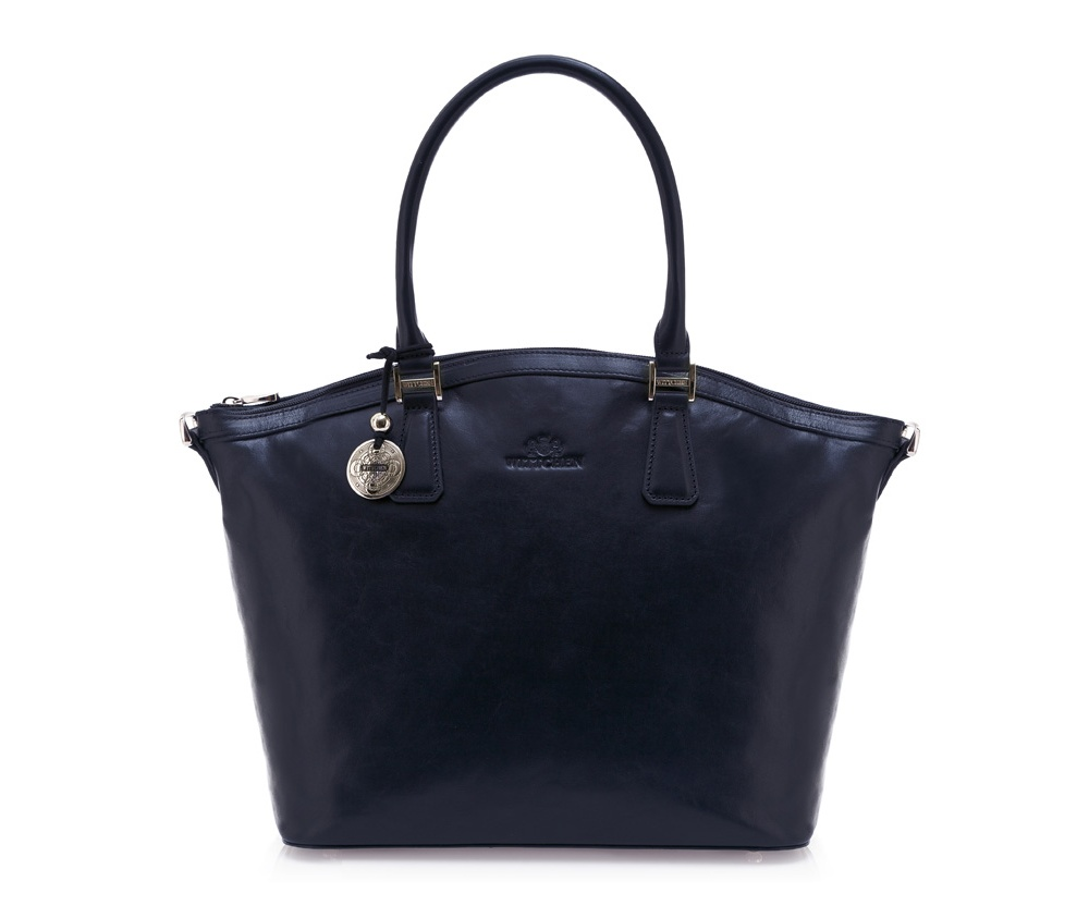 Женская сумка Wittchen 35-4-011-7, синийЖенская сумка из коллекции Venus Основное отделение на молнии, внутри отделение на молнии, отделение для мобильного телефона, крепление для 2 ручек, отделение для двух кредитных карт. Дополнительно съемный ремень с регулируемой длиной. Низ защиен металическими ножками<br><br>секс: женщина<br>Цвет: синий<br>материал:: Натуральная кожа<br>описание материала :: глянцевый<br>тип:: через плечо<br>высота (см):: 29<br>ширина (см):: 31<br>глубина (см):: 15<br>вмещает формат А4: tak<br>общая высота (см):: 45<br>вес (кг):: 0,4