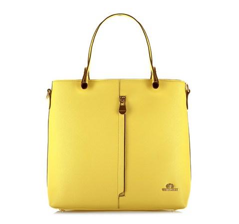 Torebka damska, żółty, 80-4-353-L, Zdjęcie 1