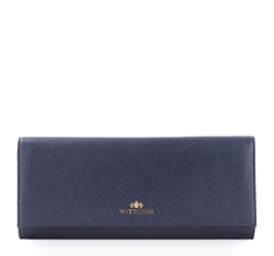 Clutch bag, navy blue, 83-4-582-9, Photo 1
