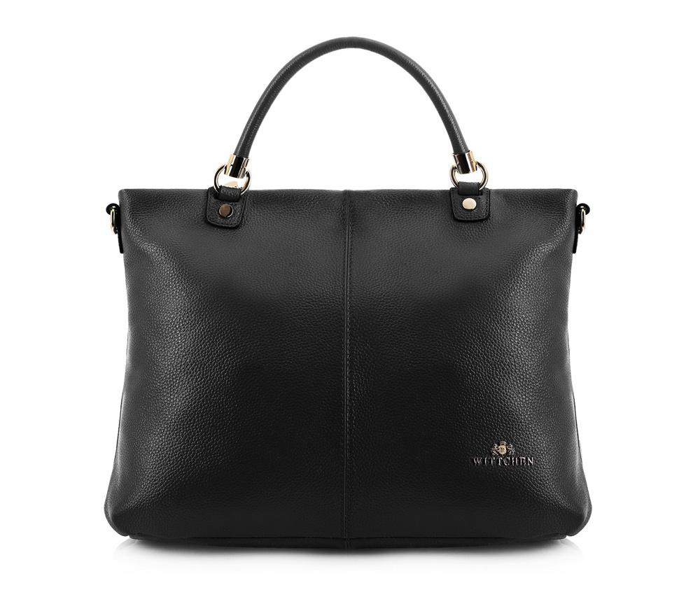 Женская сумка Wittchen 83-4E-451-1, черныйЖенская сумка из коллекции Elegance.   Основной отдел застегивается на молнию. Внутри  2 кармана на молнии, открытый карман для мелких предметов и отделение для мобильного телефона.  С тыльной стороны карман на молнии.  Дополнительно прилагается съемный, регулируемый ремешок.<br><br>секс: женщина<br>Цвет: черный<br>вмещает формат А4: поместит формат А4<br>материал:: Натуральная кожа<br>длина плечевого ремня (cм):: 109 - 120<br>высота (см):: 28<br>ширина (см):: 40<br>глубина (см):: 12<br>общая высота (см):: 38<br>длина ручки/ек (см):: 34