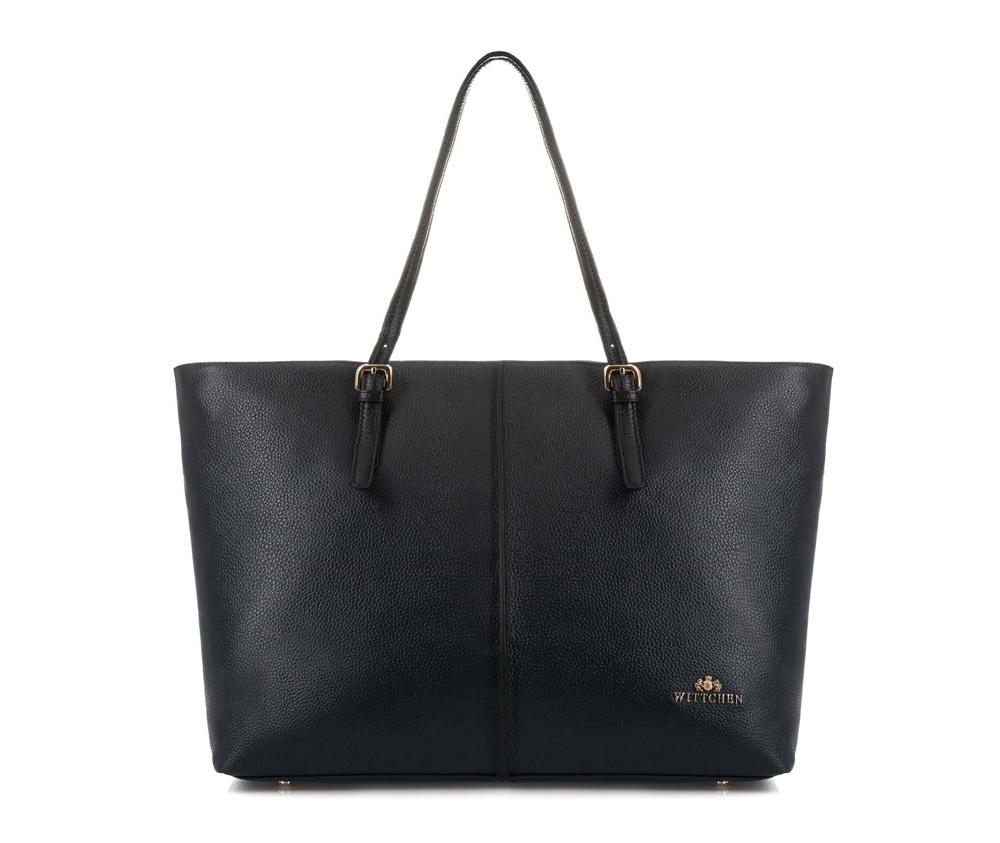 Женская сумкаЖенская сумка из коллекции Elegance. &#13;<br>Основной отдел застегивается на молнию. Внутри 2 кармана на молнии и открытый карман для мелких предметов. Возможность ругулирования длины ручек.<br><br>секс: женщина<br>Цвет: черный<br>материал:: Натуральная кожа<br>высота (см):: 30<br>ширина (см):: 36 - 47<br>глубина (см):: 15<br>общая высота (см):: 54<br>длина ручки/ек (см):: 48 - 61