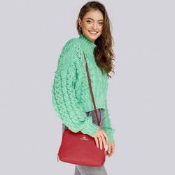 Torebka damska, czerwony, 87-4-431-3, Zdjęcie 1
