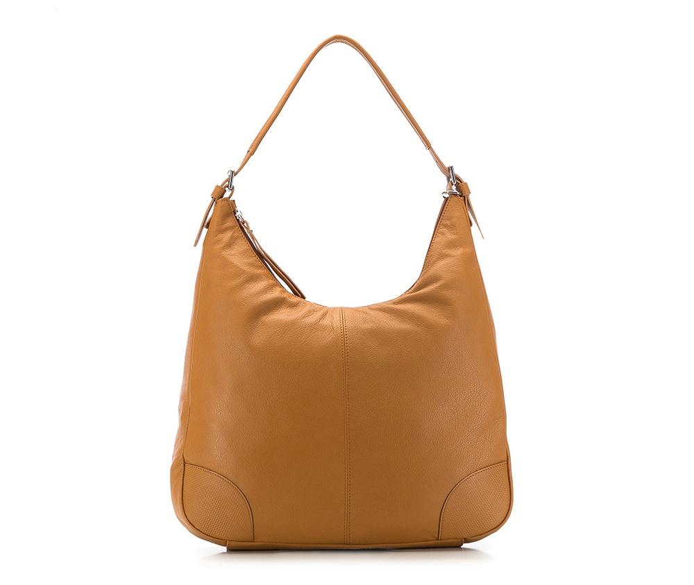 Женская сумкаЖенская сумка из коллекции Elegance 2016&#13;<br>Основной   отдел    застегивается на молнию. Внутри открытый   карман для    мелких   предметов отделение на молнии и для мобильного  телефона. Дно сумки    защищено металлическими   ножками. Дополнительно съемный плечевой  ремень.<br><br>секс: женщина<br>Цвет: коричневый<br>материал:: натуральная кожа<br>длина плечевого ремня (cм):: 95 - 107<br>высота (см):: 31<br>ширина (см):: 38 - 41<br>глубина (см):: 7<br>общая высота (см):: 59 - 64