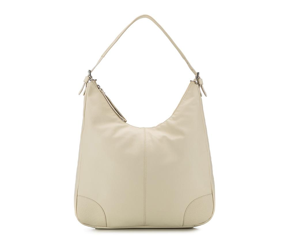 Женская сумкаЖенская сумка из коллекции Elegance 2016&#13;<br>Основной   отдел     застегивается на молнию. Внутри открытый   карман для    мелких    предметов отделение на молнии и для мобильного  телефона. Дно сумки     защищено металлическими   ножками. Дополнительно съемный плечевой   ремень.<br><br>секс: женщина<br>Цвет: бежевый<br>материал:: натуральная кожа<br>длина плечевого ремня (cм):: 95 - 107<br>высота (см):: 31<br>ширина (см):: 38 - 41<br>глубина (см):: 7<br>общая высота (см):: 59 - 64