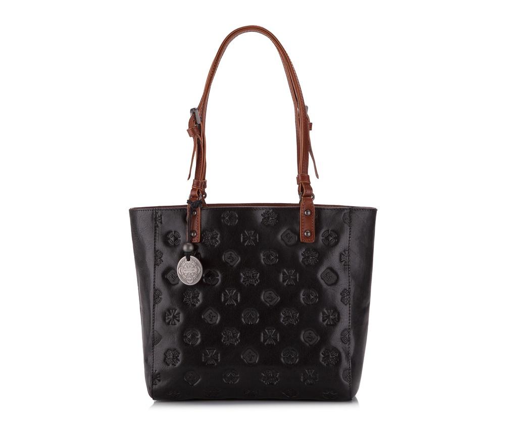 Женская сумкаЖенская сумка из коллекции Signature. Основное отделение на молнии, внутри карман на молнии и два отделения для мелких предметов.<br><br>секс: женщина<br>Цвет: черный<br>материал:: натуральная кожа<br>высота (см):: 23<br>ширина (см):: 24 - 33<br>глубина (см):: 10