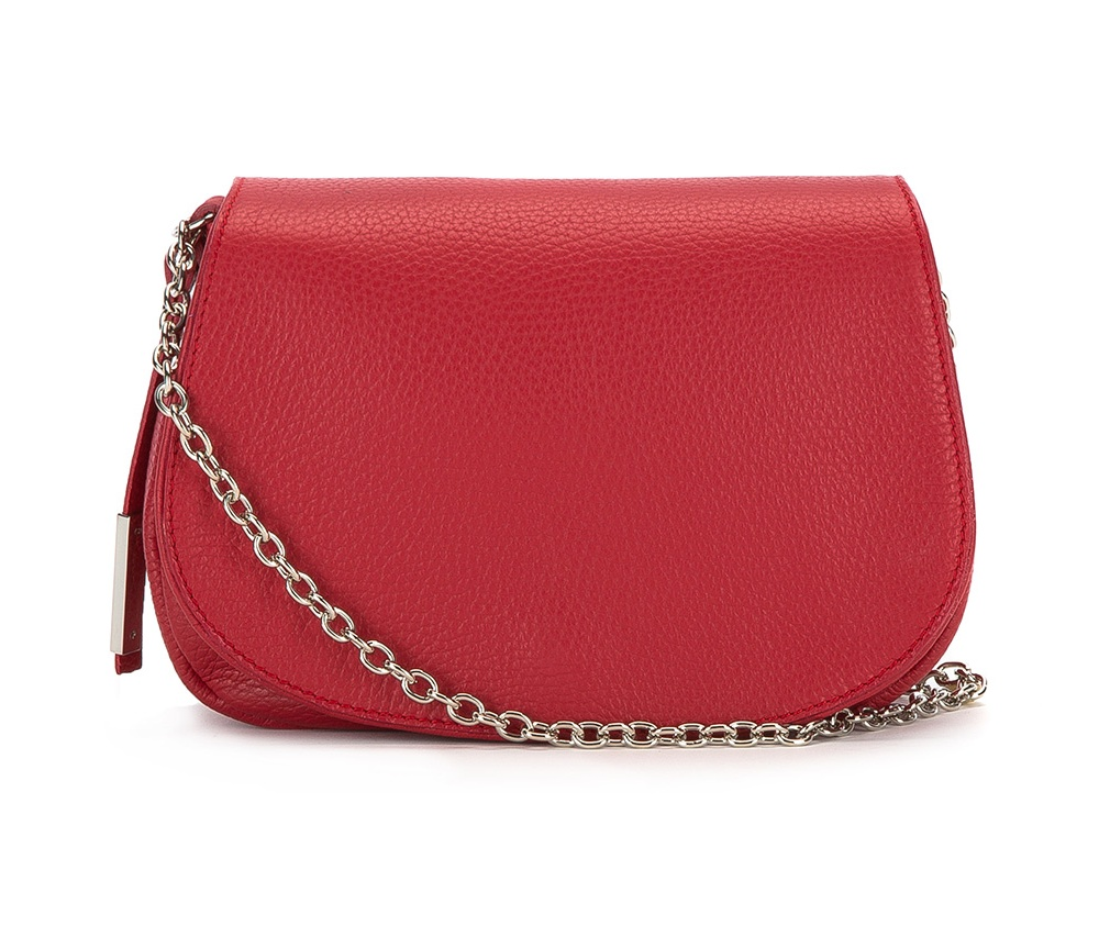 Женская сумкаЖенская сумка из коллекции Elegance 2016&#13;<br>Основное отделение сумки открытое, внутри карман на молнии. Сумка закрывается клапаном, который застегивается на магнитную кнопку.<br><br>секс: женщина<br>материал:: натуральная кожа<br>высота (см):: 16<br>ширина (см):: 23<br>глубина (см):: 6