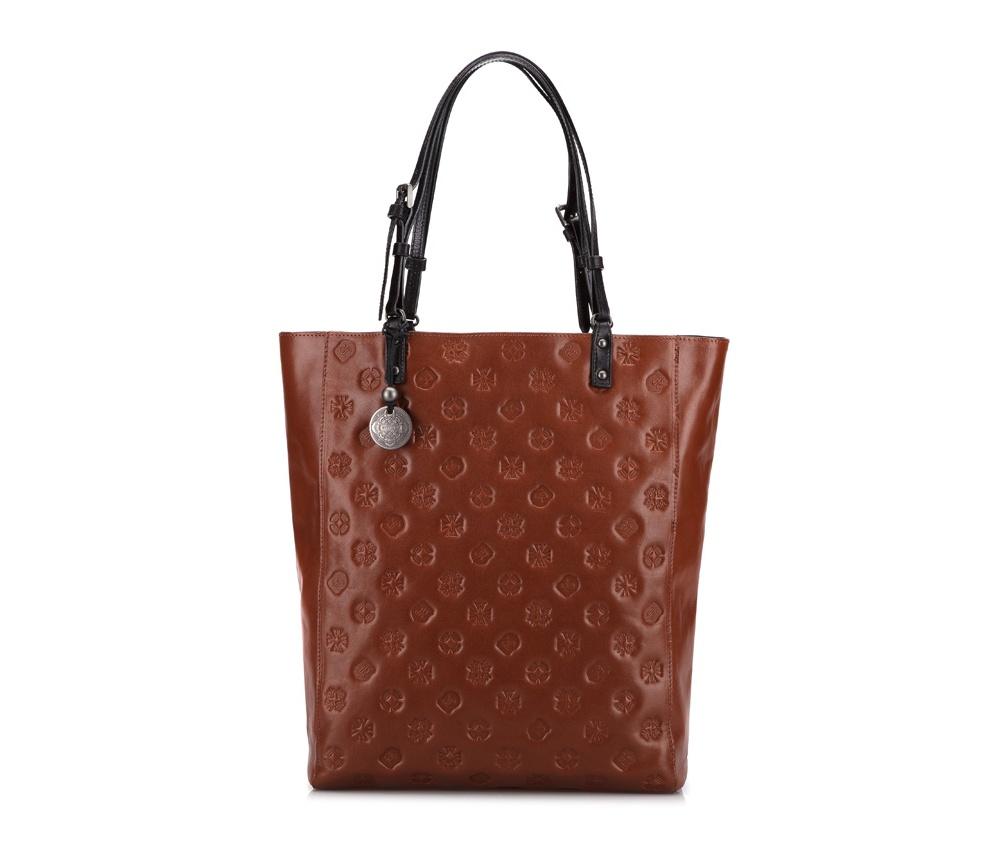 Женская сумкаЖенская сумка из коллекции Signature. Основное отделение на молнии, внутри карман на молнии и два отделения для мелких предметов.<br><br>секс: женщина<br>Цвет: коричневый<br>материал:: натуральная кожа<br>высота (см):: 37<br>ширина (см):: 29<br>глубина (см):: 10