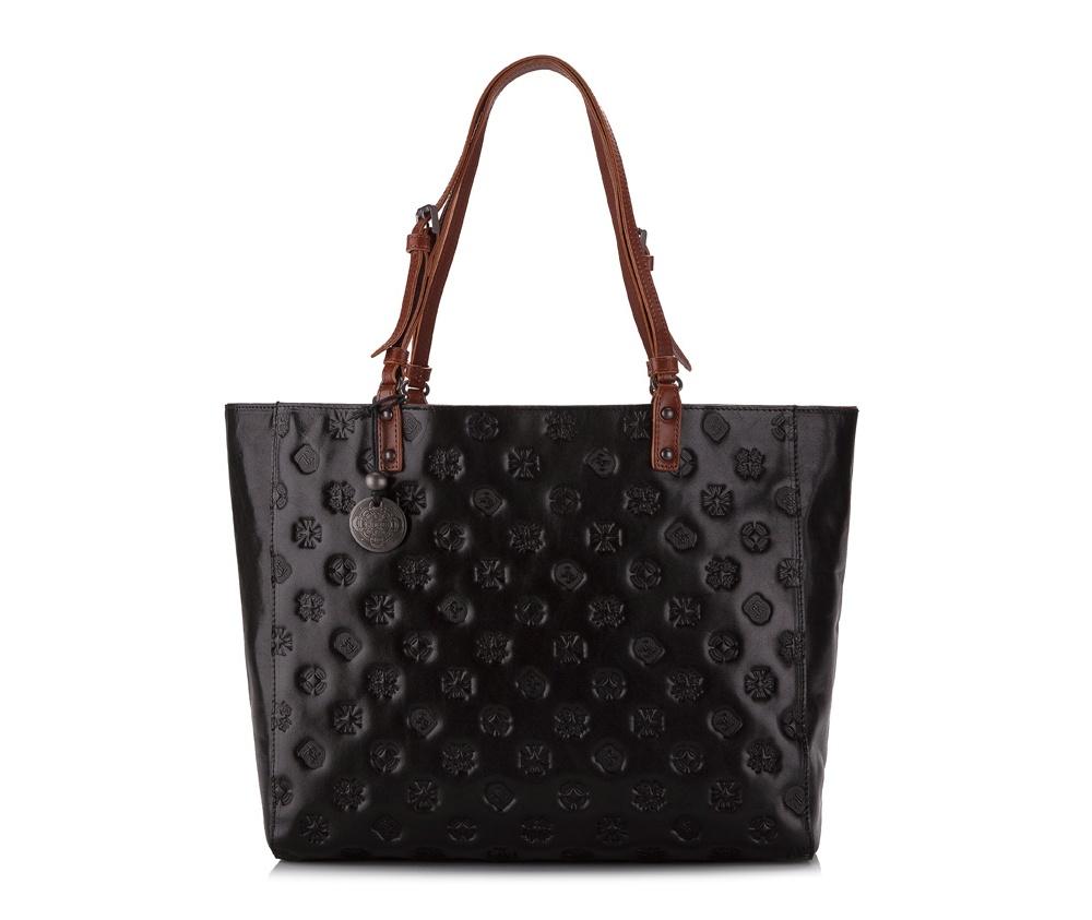 Женская сумка Wittchen 33-4-003-1L, черныйЖенская сумка из коллекции Signature. Основное отделение на молнии, внутри карман на молнии и два отделения для мелких предметов.<br><br>секс: женщина<br>Цвет: черный<br>материал:: натуральная кожа<br>высота (см):: 29<br>ширина (см):: 34<br>глубина (см):: 12