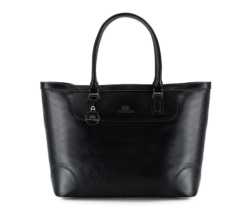 Женская сумкаЖенская сумка из коллекции Comfort  Основное отделение на молнии. Внутри сумки два кармана , из них один на молнии и держатель для мобильного телефона. Основание сумки на металлических ножках.<br><br>секс: женщина<br>Цвет: черный<br>материал:: натуральная кожа<br>высота (см):: 31<br>ширина (см):: 37 - 50<br>глубина (см):: 18<br>общая высота (см):: 51