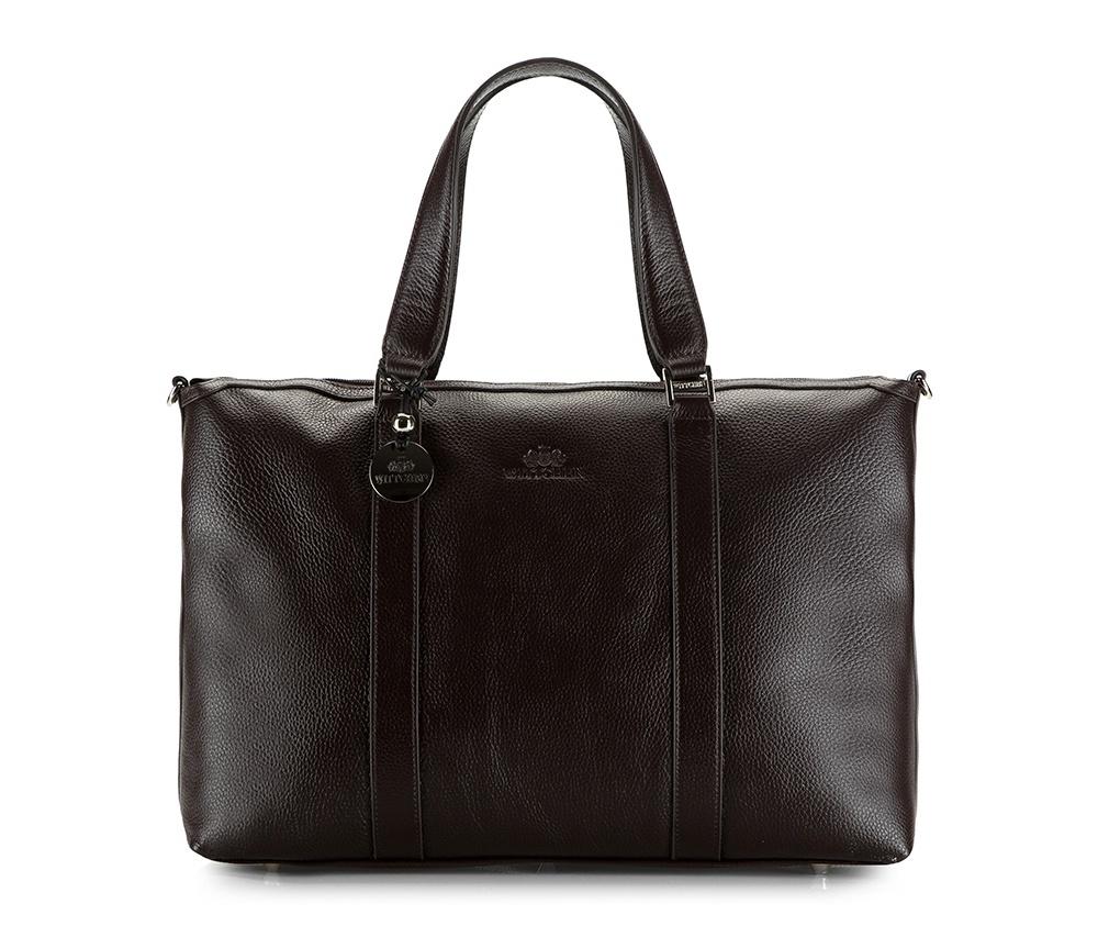 Женская сумкаЖенская сумка из коллекции Comfort  &#13;<br>Основное отделение на молнии. Внутри сумки два кармана , из них один на молнии и держатель для мобильного телефона. На лицевой стороне отделение на молнии. Основание сумки на металлических ножках. Дополнительно съемный плечевой ремень с регулируемой длиной.<br><br>секс: женщина<br>Цвет: коричневый<br>материал:: натуральная кожа<br>высота (см):: 31<br>ширина (см):: 39<br>глубина (см):: 12<br>общая высота (см):: 46