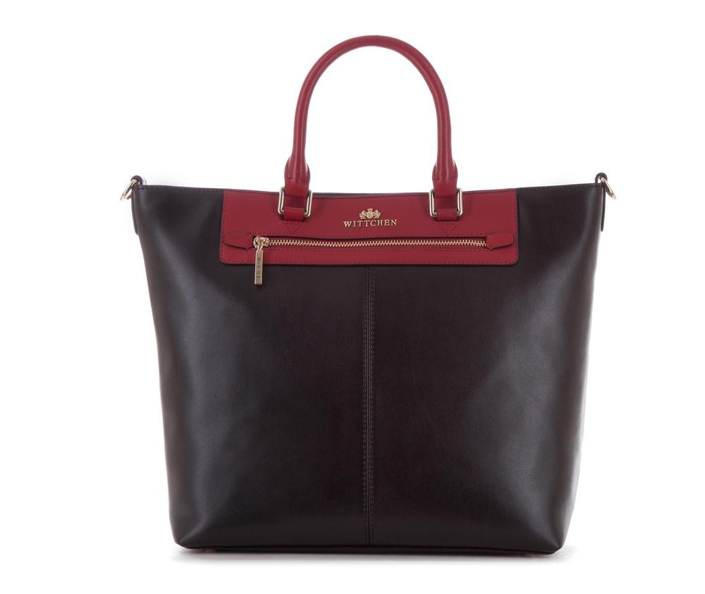 Женская сумкаЖенская сумка из коллекции Elegance&#13;<br>Основной отдел застегивается на молнию. Внутри два  кармана на молнии. Снаружи с лицевой стороны карман на молнии. Дно сумки защищено металлическими  ножками. Дополнительно прилагается съемный, регулируемый ремень.<br><br>секс: женщина<br>Цвет: черный<br>вмещает формат А4: Вмещает формат А4<br>материал:: натуральная кожа<br>длина плечевого ремня (cм):: 107 - 120<br>высота (см):: 30<br>ширина (см):: 32 - 40<br>общая высота (см):: 44<br>длина ручки/ек (см):: 40
