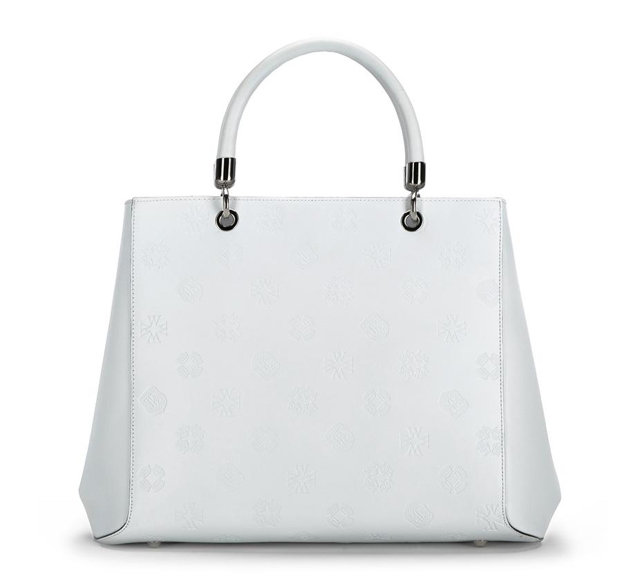 Luxusná biela kabelka do ruky z kolekcie Signature.