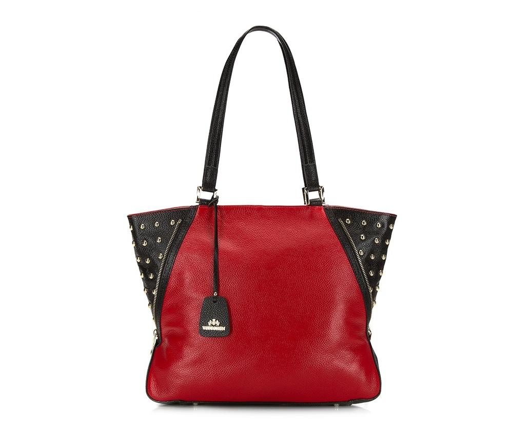 Женская сумкаЖенская сумка из коллекции Elegance &#13;<br>Основной   отдел    застегивается на молнию. Внутри открытый   карман для    мелких   предметов, отделение на молнии и для мобильного  телефона.  На тыльной   стороне снаружи отделение на молнии. Дно сумки   защищено    металлическими  ножками.<br><br>секс: женщина<br>Цвет: красный<br>материал:: натуральная кожа<br>высота (см):: 31<br>ширина (см):: 37 - 42<br>глубина (см):: 13<br>общая высота (см):: 60