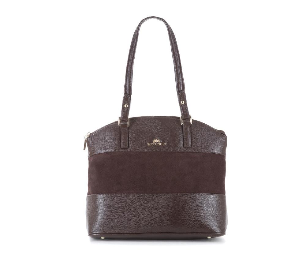 Женская сумкаЖенская сумка из коллекции Elegance&#13;<br>Основной отдел застегивается на молнию.Внутрикарман на молнии, открытый карман для мелких предметов и отделение для мобильного телефона.С тыльной стороныкарман застегивается на молнию.Дно сумки защищено металлическими ножками.<br><br>секс: женщина<br>Цвет: коричневый<br>вмещает формат А4: поместит формат А4<br>материал:: Натуральная кожа<br>высота (см):: 25 - 30<br>ширина (см):: 34 - 36<br>глубина (см):: 13<br>общая высота (см):: 57<br>длина ручки/ек (см):: 68