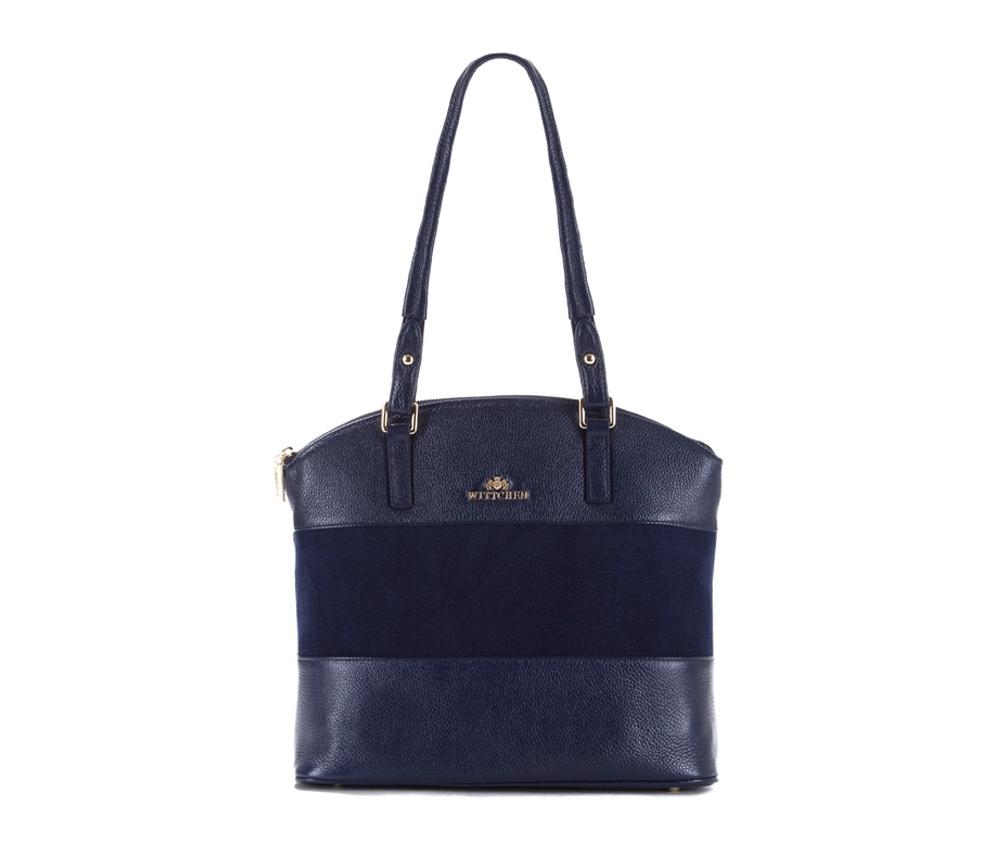 Женская сумкаЖенская сумка из коллекции Elegance&#13;<br>Основной отдел застегивается на молнию.Внутрикарман на молнии, открытый карман для мелких предметов и отделение для мобильного телефона.С тыльной стороныкарман застегивается на молнию.Дно сумки защищено металлическими ножками.<br><br>секс: женщина<br>Цвет: синий<br>вмещает формат А4: поместит формат А4<br>материал:: Натуральная кожа<br>высота (см):: 25 - 30<br>ширина (см):: 34 - 36<br>глубина (см):: 13<br>общая высота (см):: 57<br>длина ручки/ек (см):: 68
