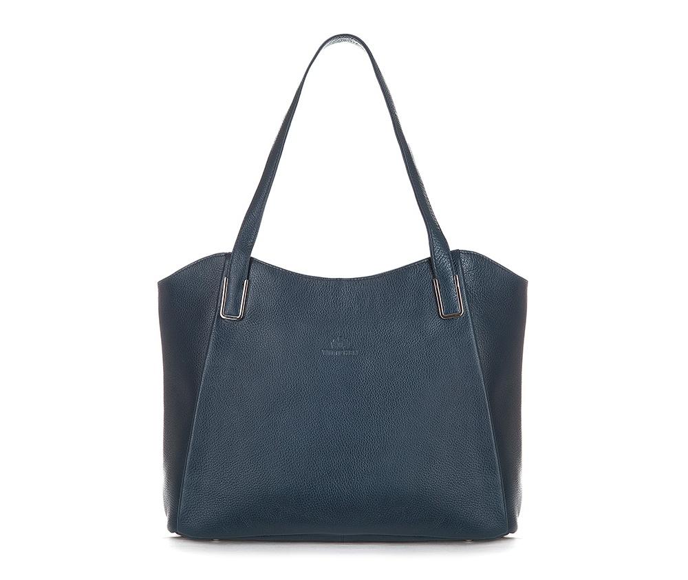 Женская сумкаЖенская сумка из коллекции Elegance&#13;<br>Основной отдел застегивается на молнию.Внутри карман на молнии, открытый карман для мелких предметов и отделение для мобильного телефона. С тыльной стороны   карман на молнии.<br><br>секс: женщина<br>вмещает формат А4: поместит формат А4<br>материал:: Натуральная кожа<br>высота (см):: 25 - 27<br>ширина (см):: 34 - 38<br>глубина (см):: 12<br>общая высота (см):: 51<br>длина ручки/ек (см):: 61