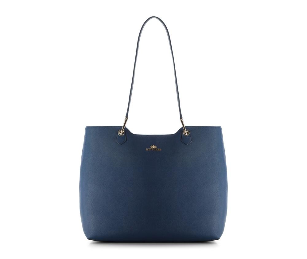 Женская сумкаЖенская сумка из коллекции EleganceОсновной отдел застегивается на молнию.Внутри2 карманана молнии, открытый карман для мелких предметов и отделение для мобильного телефона.<br><br>секс: женщина<br>Цвет: синий<br>вмещает формат А4: поместит формат А4<br>материал:: Натуральная кожа<br>высота (см):: 33<br>ширина (см):: 39 - 42<br>глубина (см):: 16.5<br>общая высота (см):: 67<br>длина ручки/ек (см):: 72