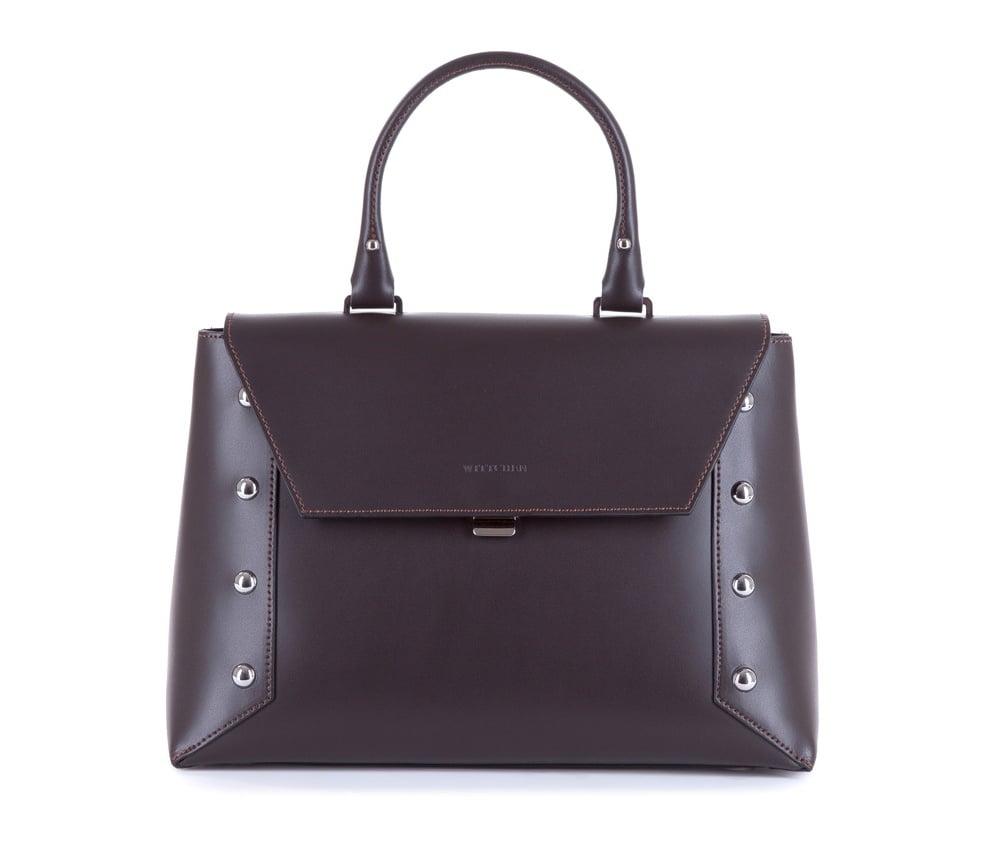 Женская сумка Wittchen 83-4E-007-4, темно-коричневыйЖенская сумка из коллекции Elegance<br><br>секс: женщина<br>Цвет: коричневый<br>материал:: Натуральная кожа<br>высота (см):: 22<br>ширина (см):: 29 - 32<br>глубина (см):: 12<br>общая высота (см):: 36<br>длина ручки/ек (см):: 34