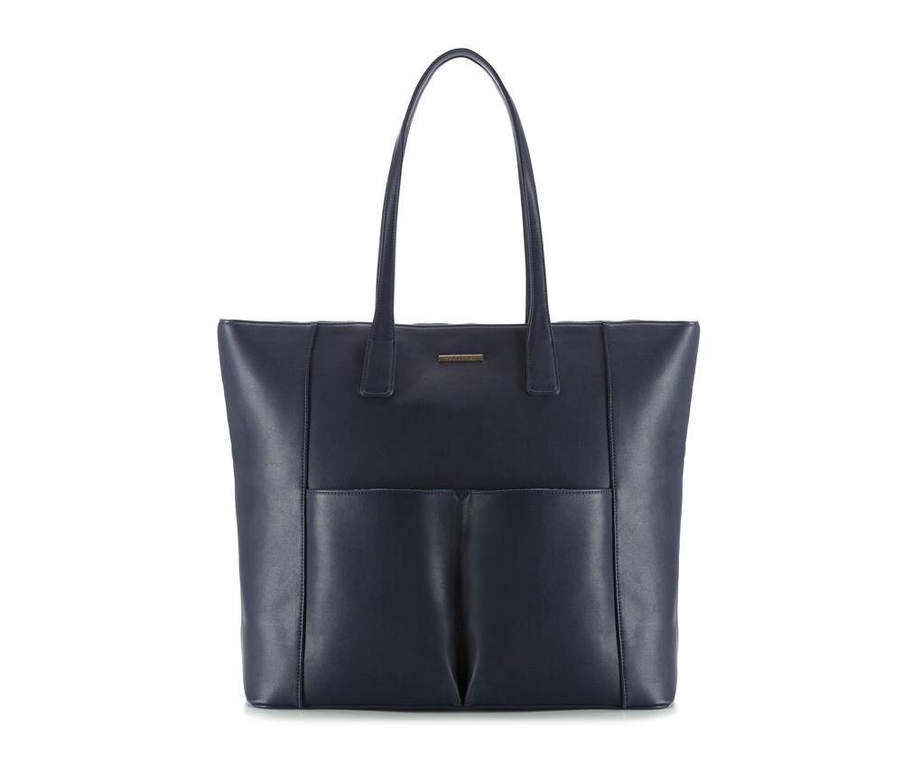 Женская сумкаЖенская сумка из коллекции E-BAG&#13;<br> E-BAG представляет собой сочетание классического стиля и современных решений.&#13;<br>Внутри  специальные перегородки для аксессуаров, которые позволяют сохранить  порядок внутри сумки. Основное отделение закрывается на молнию.Внутри  карман для устройств с максимальными размерами: 19 см x 27 см, карман на  молнии, отделение для мобильного телефона, карман для наушников, 2  места для ручек и карман для блока питания.&#13;<br>Дополнительно спереди два открытых кармана для мелких предметов.<br><br>секс: женщина<br>Цвет: синий<br>материал:: Экокожа<br>ширина (см):: 41 - 47<br>высота (см):: 37.5<br>глубина (см):: 15.5<br>длина ручки/ек (см):: 65