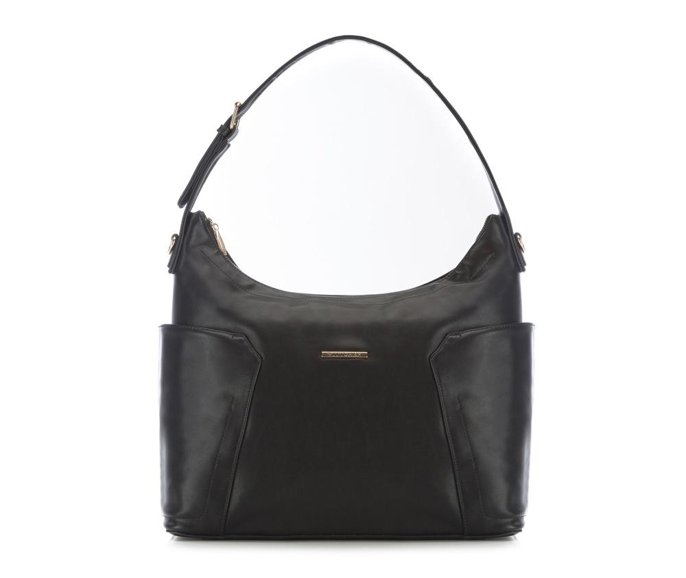 Женская сумкаЖенская сумка из коллекции E-BAG&#13;<br> E-BAG представляет собой сочетание классического стиля и современных решений. Кроме того, интересные цвета подкладки придает сумке оригинальный вид.&#13;<br>Внутри специальные перегородки  для аксессуаров, которые позволяют сохранить порядок внутри сумки.  &#13;<br>Основное отделение закрывается на молнию. Внутри  карман для устройств с максимальными размерами: 24 см x 35 см, карман на  молнии, отделение для мобильного телефона, карман для наушников, 2  места для ручек и карман для элементов питания. &#13;<br>По бокам два  открытых кармана для мелких предметов.Дополнительно прилагается съемный, регулируемый ремень.<br><br>секс: женщина<br>Цвет: черный<br>материал:: Экокожа<br>ширина (см):: 38<br>высота (см):: 29<br>глубина (см):: 13.5<br>размер:: поместит формат А4<br>длина ручки/ек (см):: 63 - 71