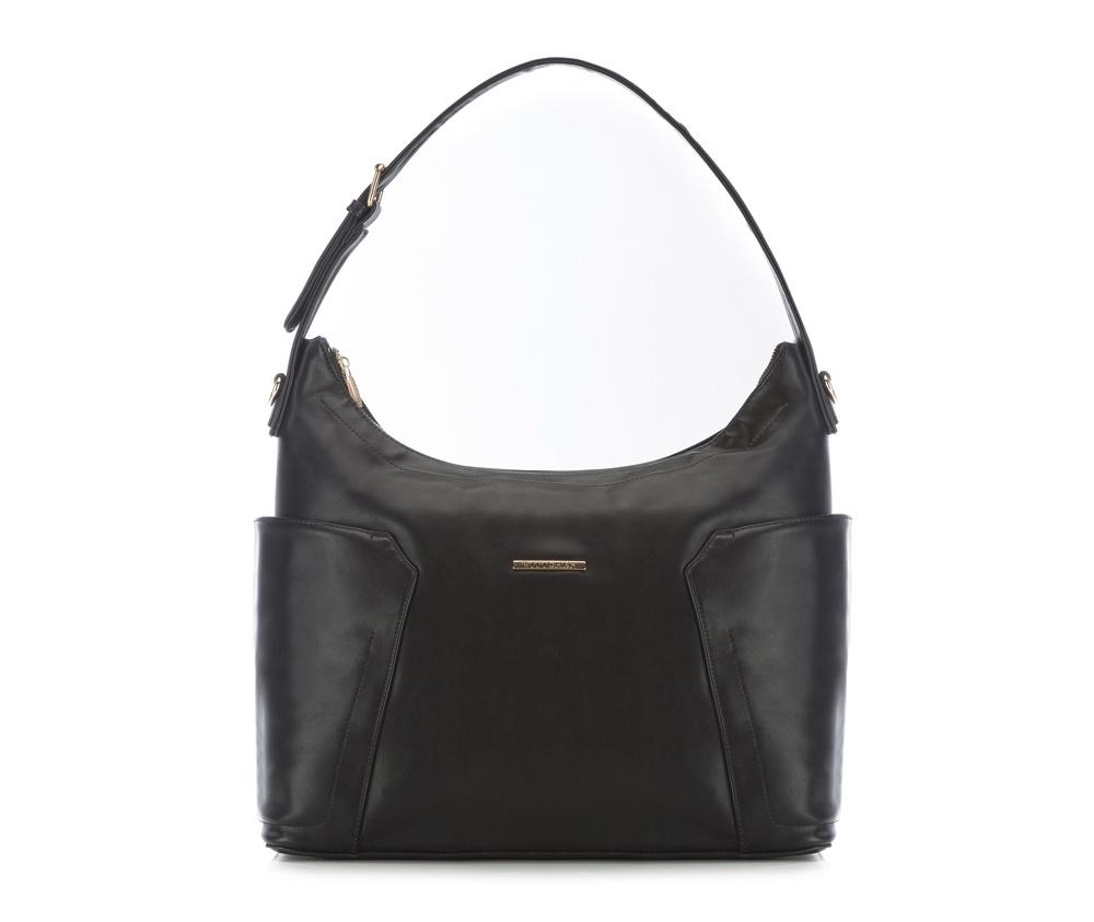Женская сумкаЖенская сумка из коллекции E-BAG&#13;<br> E-BAG представляет собой сочетание классического стиля и современных решений. Кроме того, интересные цвета подкладки придает сумке оригинальный вид.&#13;<br>Внутри специальные перегородки  для аксессуаров, которые позволяют сохранить порядок внутри сумки.  &#13;<br>Основное отделение закрывается на молнию. Внутри  карман для устройств с максимальными размерами: 24 см x 35 см, карман на  молнии, отделение для мобильного телефона, карман для наушников, 2  места для ручек и карман для элементов питания. &#13;<br>По бокам два  открытых кармана для мелких предметов.Дополнительно прилагается съемный, регулируемый ремень.<br><br>секс: женщина<br>Цвет: черный<br>материал:: Экокожа<br>ширина (см):: 38<br>высота (см):: 29<br>глубина (см):: 13.5<br>подкладка:: поместит формат А4<br>длина ручки/ек (см):: 63 - 71